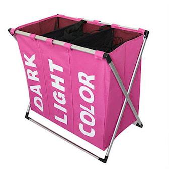 Rosa, Foldable Laundry Bag, 7 Colors, Sammenleggbar skittentøyskurv, ,