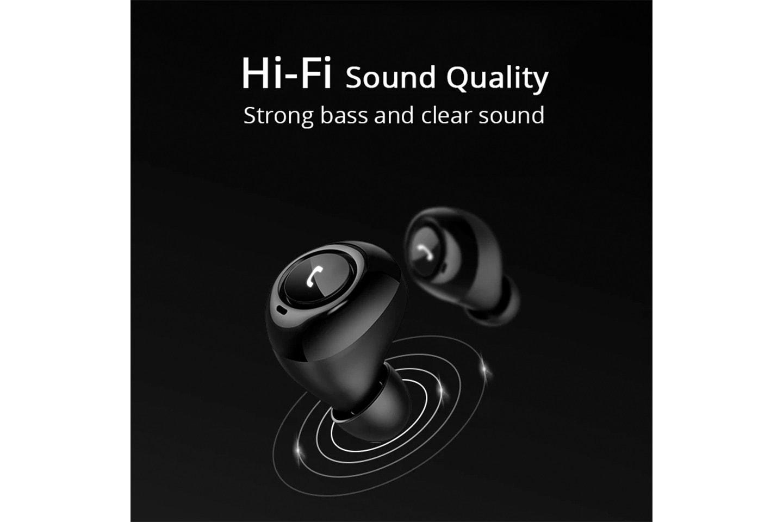 Trådløse in-ear hodetelefoner med Bluetooth 5.0