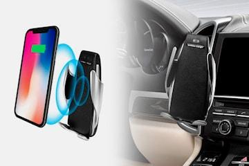 Trådløs Qi-lader og mobilholder til bilen