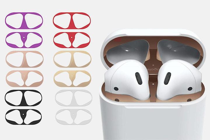 Dammskydd av metall för Apple AirPods 2-pack