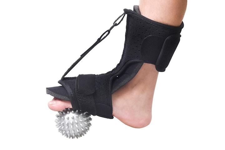 Justerbar stödskena för foten