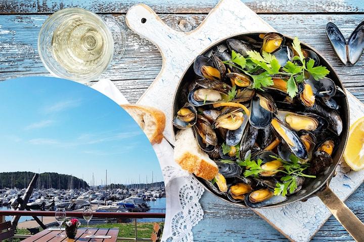 Valgfri 2-retters hos Om Mat i idylliske Sjølyst Marina