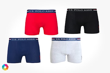 U.S. Polo Assn. boxer 4-pack