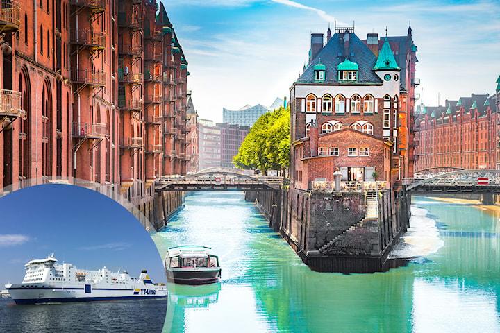 Hamburg för 2 inkl. bil, hytt och hotell