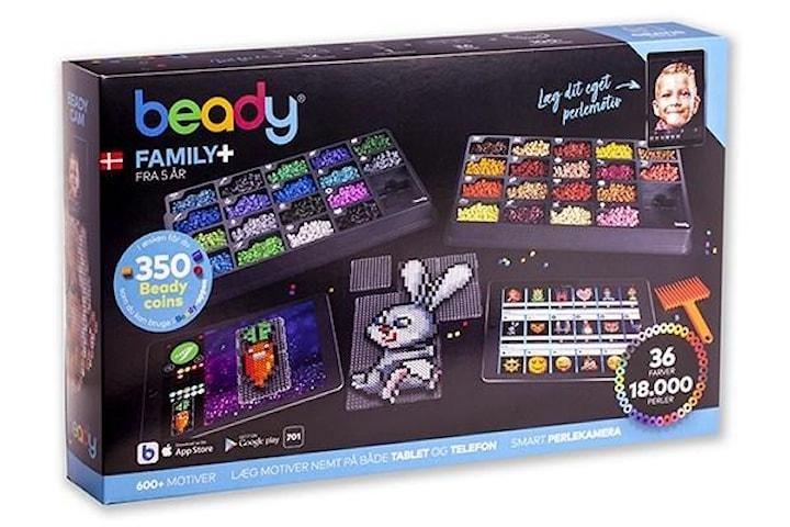 Beady Family+ 18.000 pärlor, 12 plattor, 1 pärlskrapa