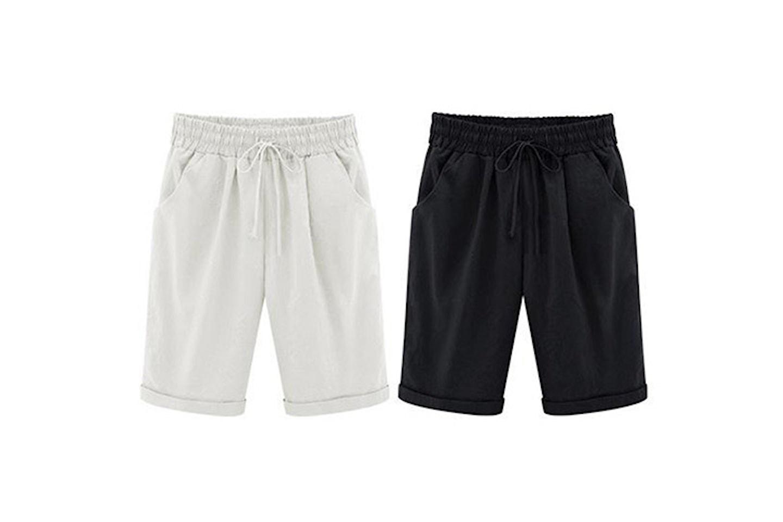 Knälånga shorts i dammodell