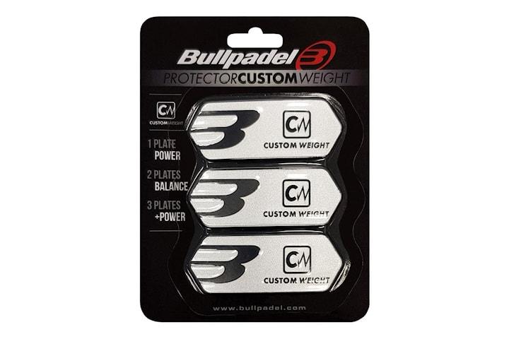 Bullpadel, 3x Racketvikter, Protector - Silver