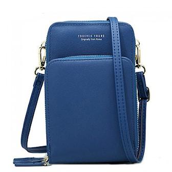 Mörkblå, Solid PU leather Clutch Bag, Clutch i PU-läder,