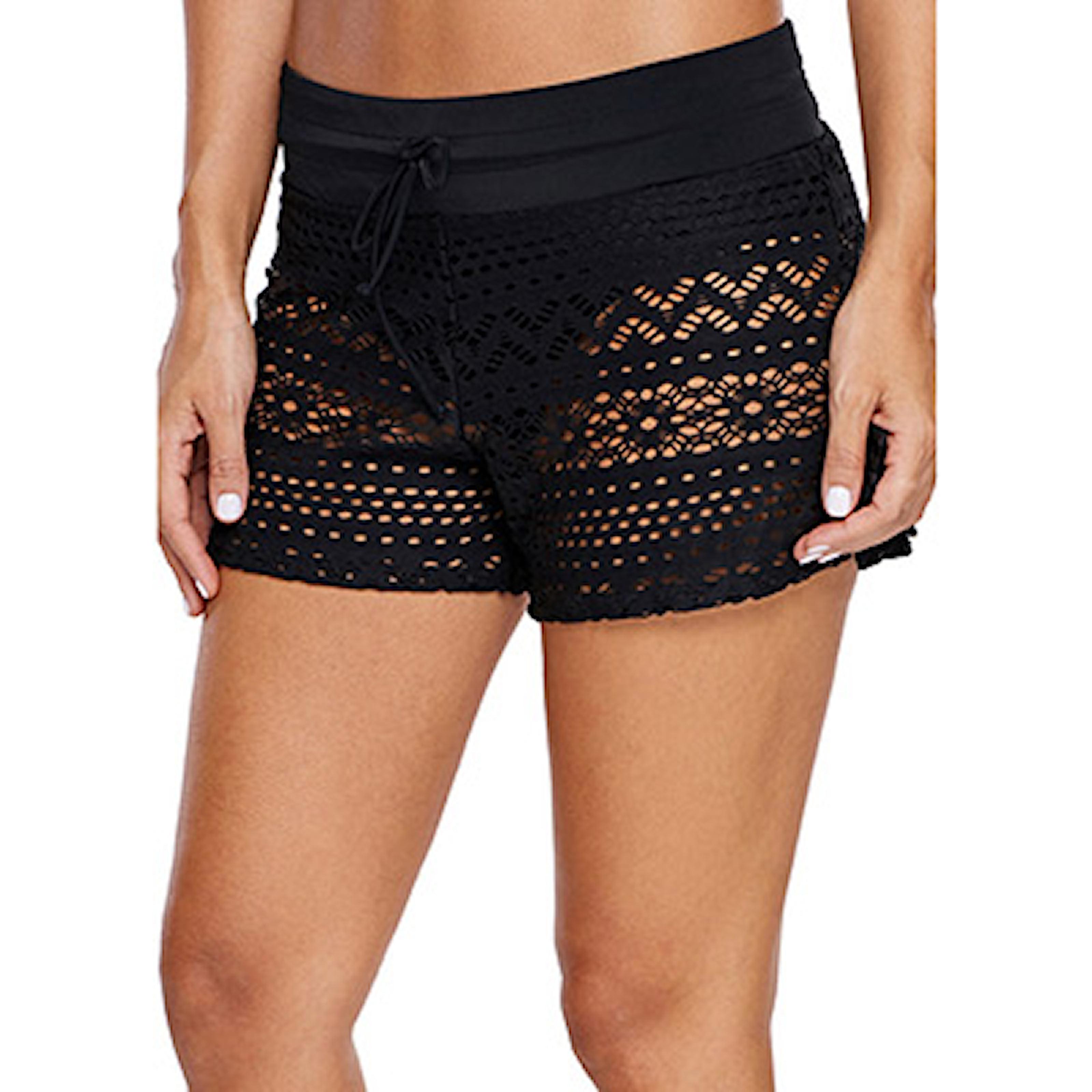 M, Lace, Women'S Swim Shorts, Badbyxor i dammodell, ,