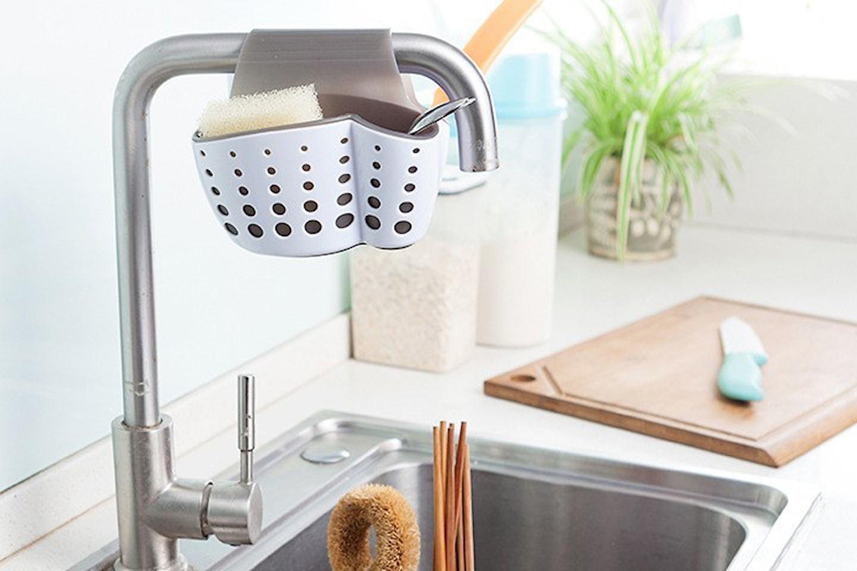 Hängande förvaringsställ till diskbänken