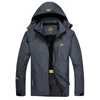 Grå, M, Woman, Outdoor unisex windbreaker jacket, Vindjakke, ,