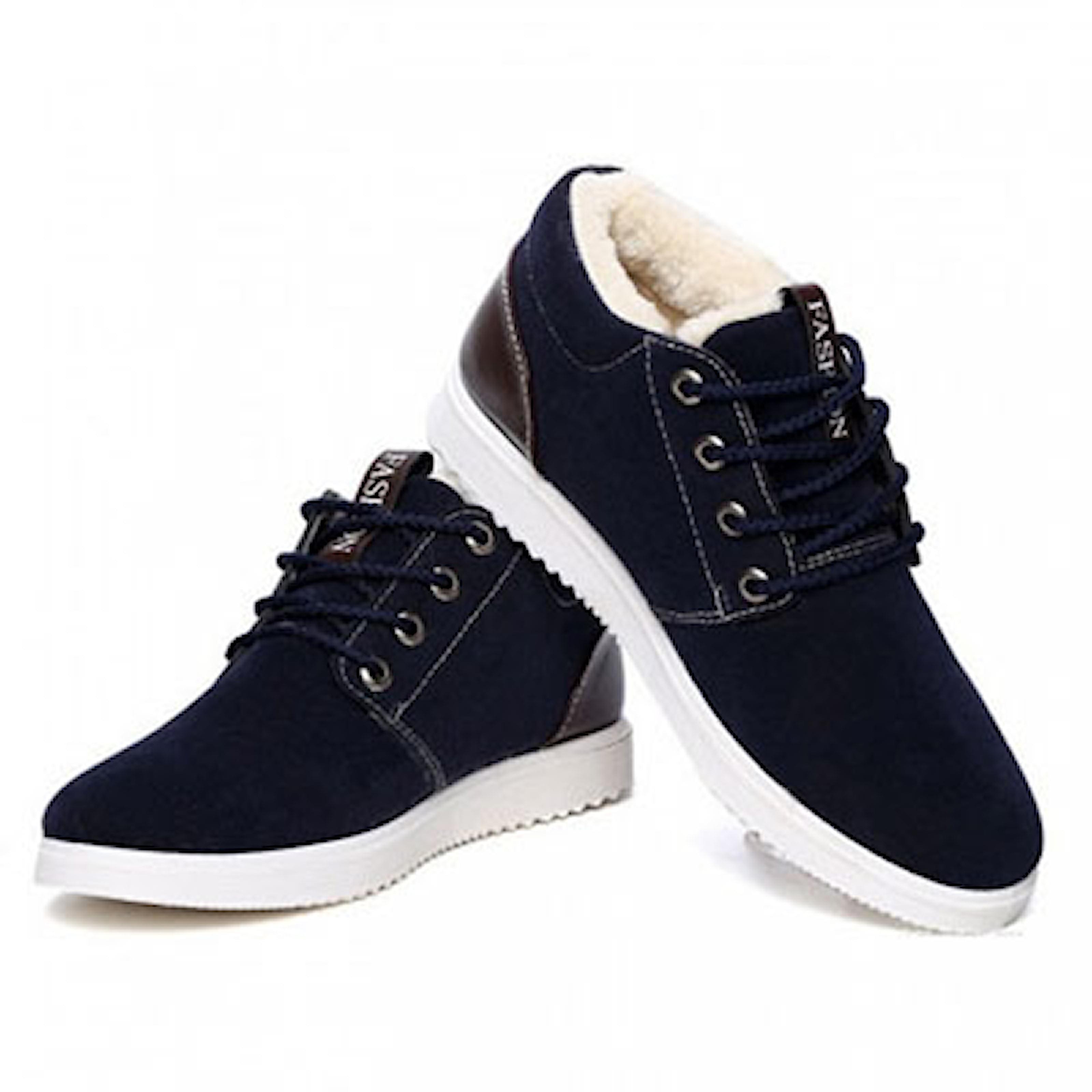 Svart, 44, Warm Padded Shoes, , ,