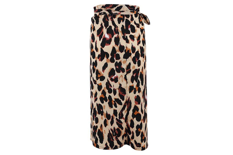 Skjørt med leopardmønster