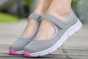Slip-on sko med reim