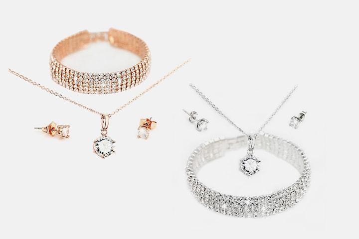 Polaris smykkesett med Swarovski-krystaller