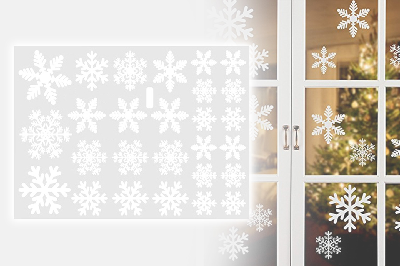 Snøfnugg vindudekorasjon (1 av 5)