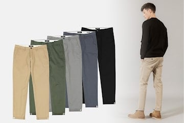 Simwood straight fit chinos til herre