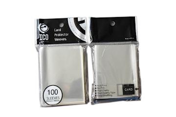 Transparenta Plastfickor för Spelkort 100-pack