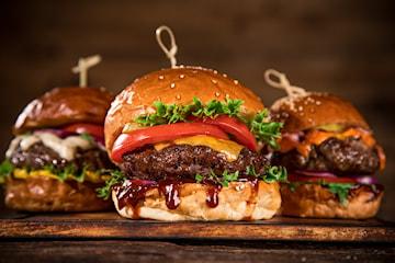 Catering med hamburgare, för upp till 100 personer