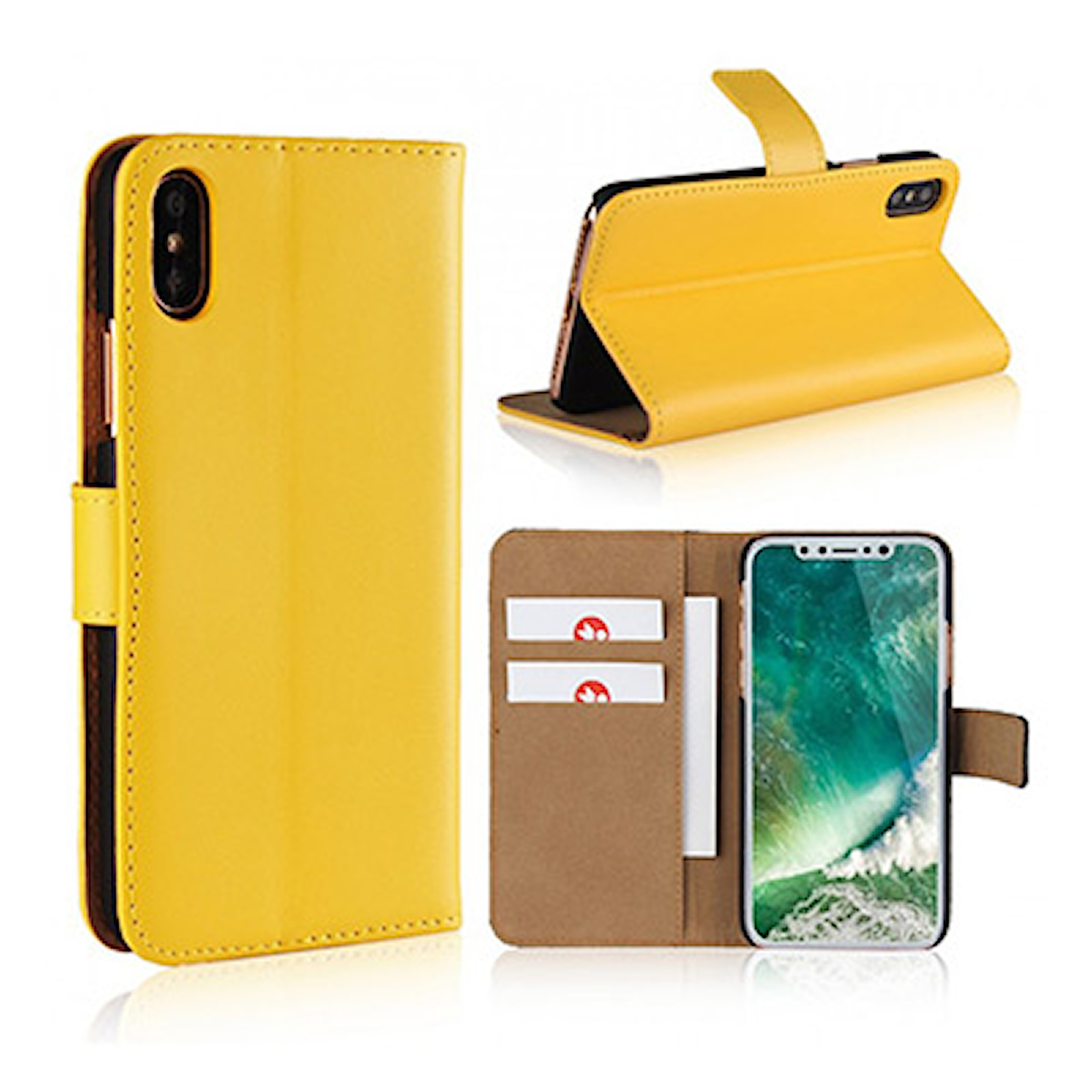 Gul, iPhone 6+/6S+, iPhone Wallet Cover, iPhone-lommebok, ,