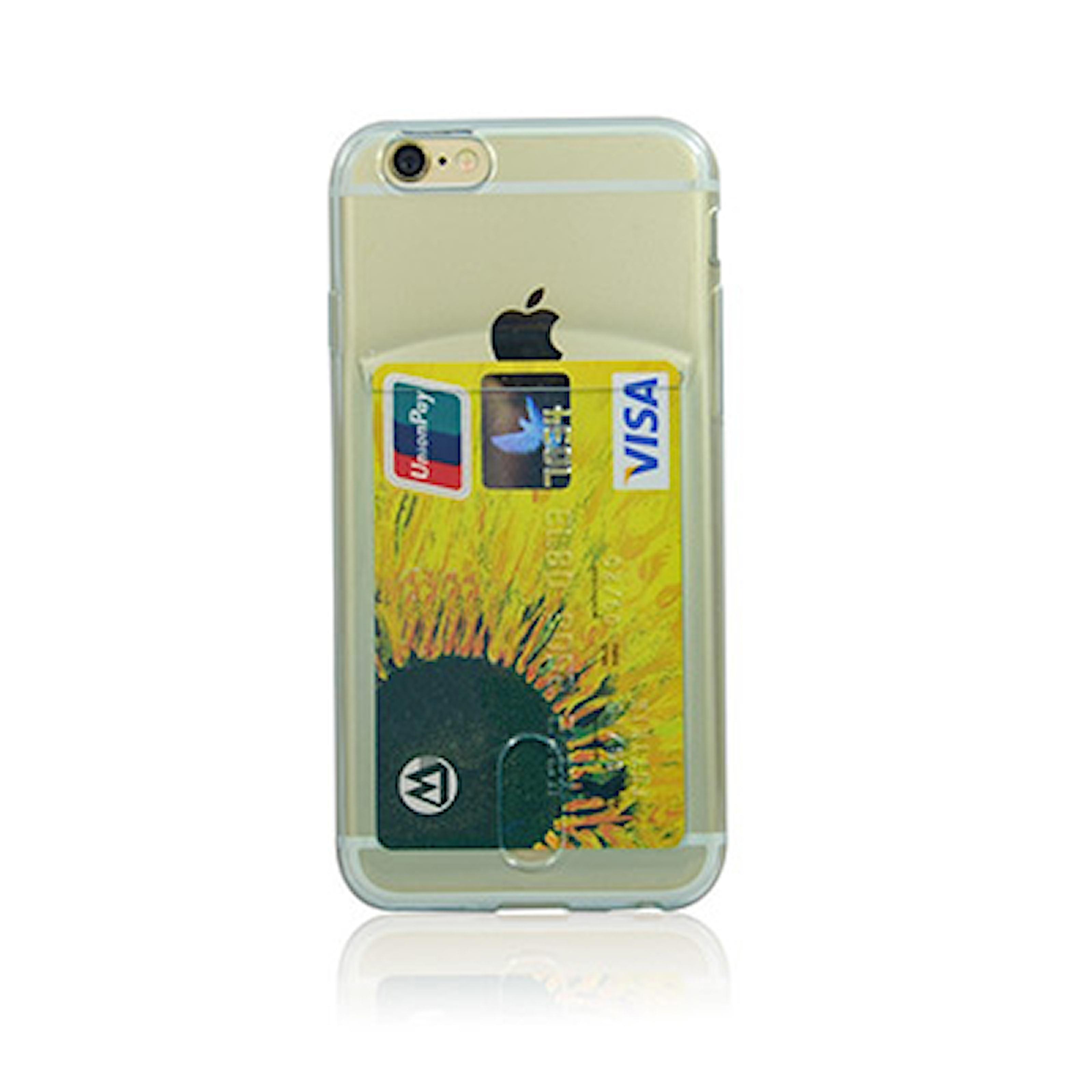 Blå, iPhone 6+, TPU Card Slot Case, Mobilskal för iPhone 6, ,