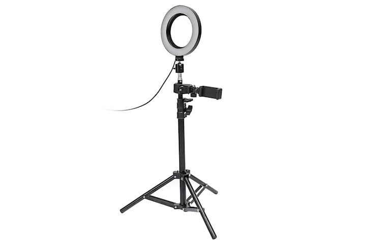 Selfie lampa / Ring light (17 cm) och stativ