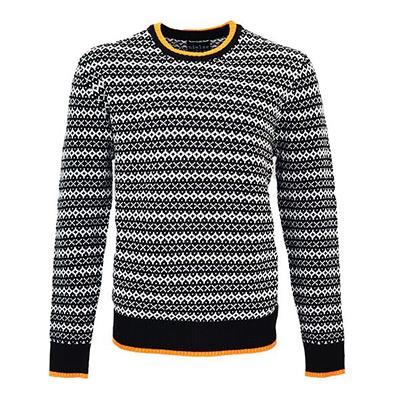 Svart, L/XL, Nielsen Christensen Men's Knitted Wool Sweater, Nielsen & Christensen ulltröja herr,  (1 av 1)