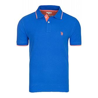 Kungsblå, L, US Polo Short Arm Shirt, US Polo piké,