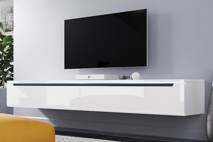 TV-bänk som kan hängas på väggen