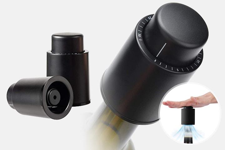 Vakuumkork för vinflaska 2- eller 4-pack