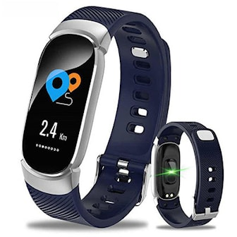 Blå, QW16 smart bracelet, QW16 aktivitetsarmbånd med helsesjekk,
