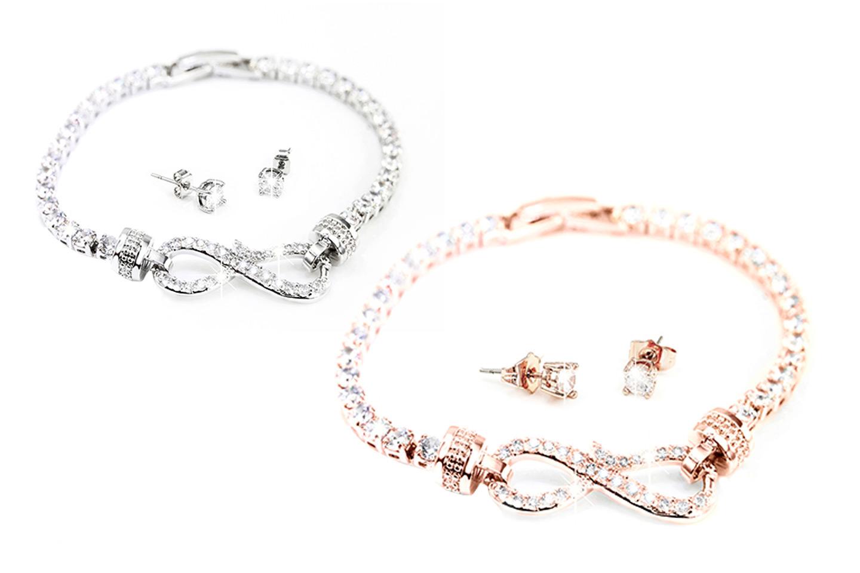 Armband och örhängen med Swarovski-kristaller (1 av 3)