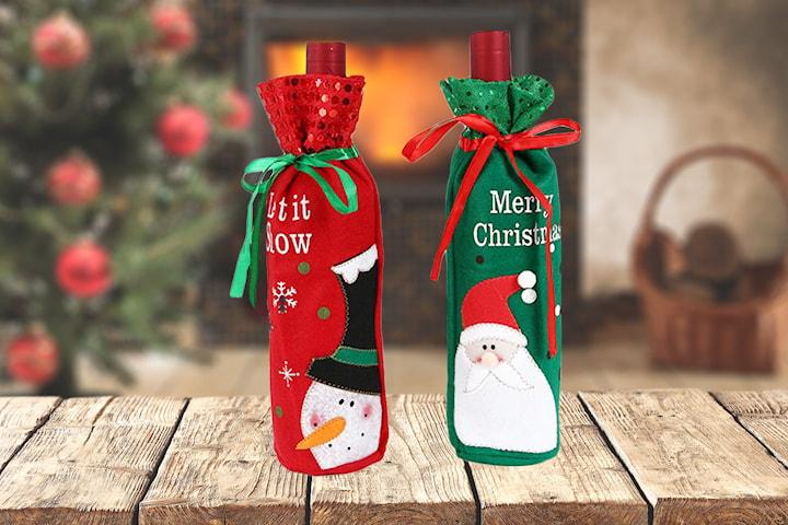 Vinpose med julemotiv 2-pack