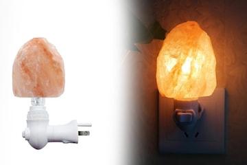 Lampe med Himalaya saltkrystall