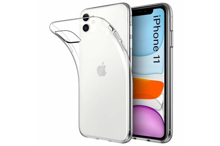 Transparent TPU skal + två st skärmskydd till iPhone 11