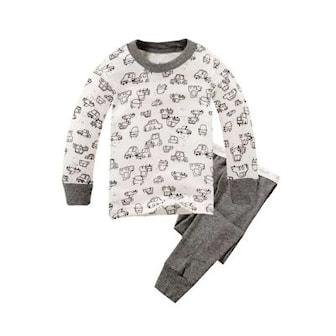 Plain Car, 3T, Colorful long sleeve set for kids, Pysjamas for barn, ,