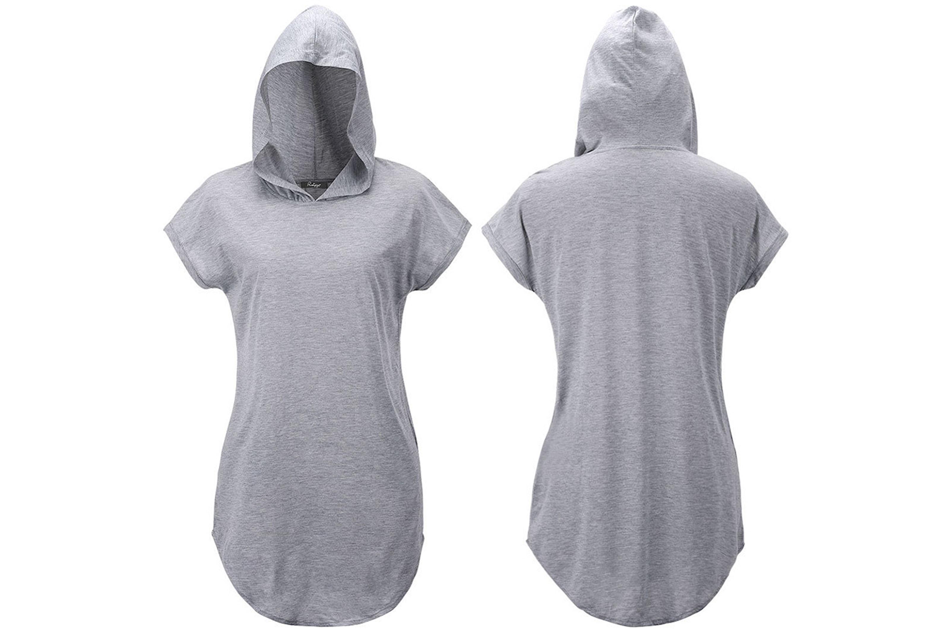 Lång hoodie med korta ärmar
