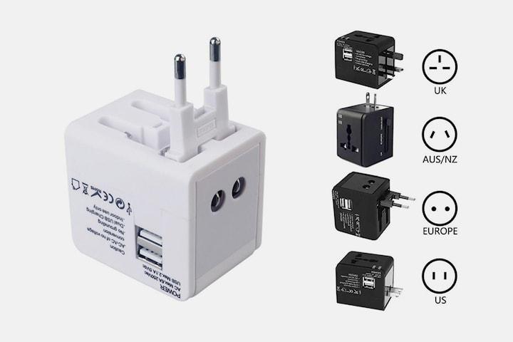 Adapter med dobbel USB-inngang