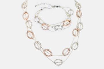 Dayton halsband och armband med Swarovski-kristaller