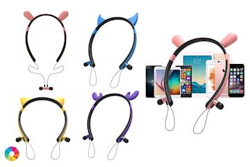 Bluetooth-hörlurar med djuröron