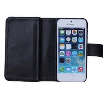 Svart, Galaxy S6, 2in1 Leather Flip Cover, 2-i-1 mobildeksel, ,