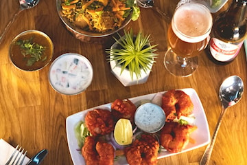 Indisk trerätters middag på The South Indian