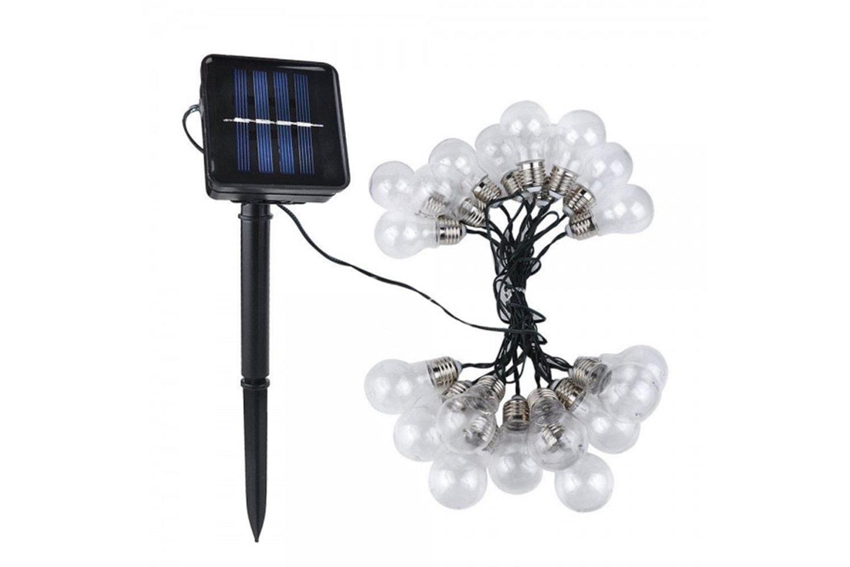 Lyslenke med solcellepanel
