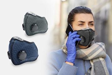 Ansiktsmask med 2 filter