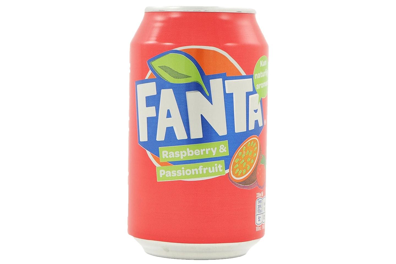 To brett med Fanta Raspberry & Passionfruit