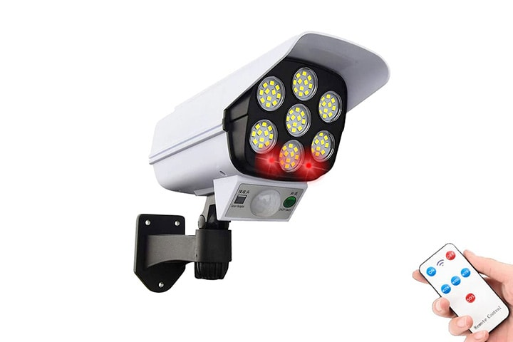 Dummy sikkerhetskamera med LED-lys