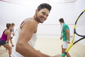 En, tre eller fem timer Squash (lang gyldighet)