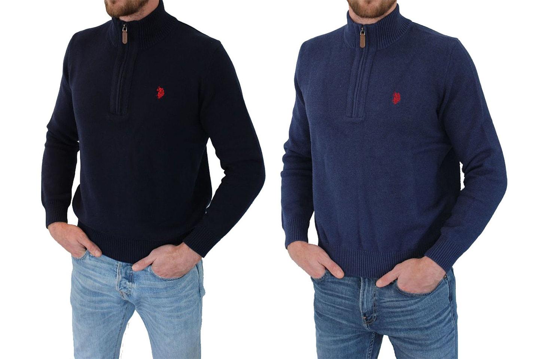 US Polo zip genser