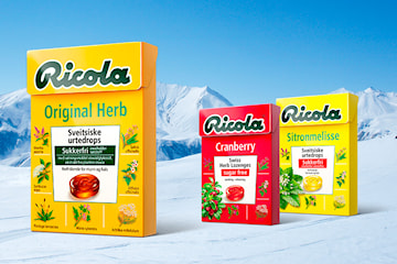 10 eller 20-pack Ricola urtedrops (fem smaker)