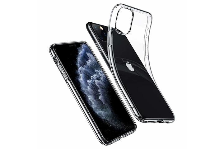 Transparent TPU skal + två st skärmskydd till iPhone 11 Pro Max